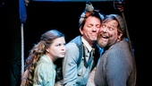 Nicole Lowrance as Molly, Jon Patrick Walker as Mrs. Bumbrake and Evan Harrington as Alf in Peter and the Starcatcher.