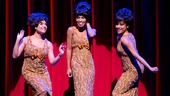 Sydney Morton as Florence Ballard, Valisia LeKae as Diana Ross and Ariana DeBose as Mary Wilson of The Supremes in Motown: The Musical.