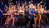 Patina Miller as the Leading Player and the cast of Pippin.