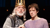 Terrence Mann as Charles and Matthew James Thomas as Pippin in Pippin.