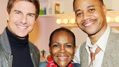 Tom Cruise and Cuba Gooding Jr. flank Oscar nominee Cicely Tyson, who plays Gooding's mother Carrie in the emotional revival.