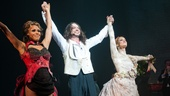 Jekyll & Hyde's trio of stars Deborah Cox, Constantine Maroulis and Teal Wicks come together for one final opening night bow.