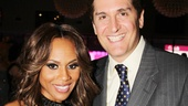 Nederlander EVP Nick Scandalios gets his photo with Jekyll leading lady Deborah Cox.