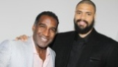 Broadway meets basketball! Porgy & Bess alum Norm Lewis hangs out backstage with Tyson Chandler.