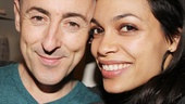 Alan Cumming is thrilled his Josie and the Pussycats co-star Rosario Dawson came to celebrate his big night.