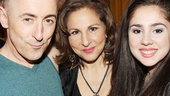 Alan Cumming hangs out with stage and screen star Kathy Najimy and her daughter Samia at Hudson Terrace.