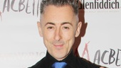 Scottish-born actor Alan Cumming dons a festive kilt on his big opening night.
