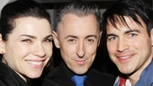Julianna Margulies (Cummings co-star on The Good Wife) and her husband Keith Lieberthal show the Tony winner some love on opening night.