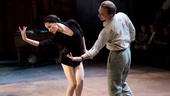 Natalia Alonso as Maria Tallchief and Michael Cerveris as George Balanchine in Nikolai and the Others. 