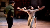 Michael Rosen as Nicholas Magallanes, Michael Cerveris as George Balanchine and Natalia Alonso as Maria Tallchief in Nikolai and the Others. 