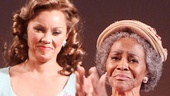 As Vanessa Williams looks on, The Trip to Bountiful star Cicely Tyson is visibly moved by her standing ovation.
