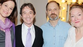 Stage and screen favorite Martin Short congratulates Sigourney Weaver, David Hyde Pierce and Kristine Nielsen after the hilarious performance.