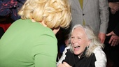 Tony winner Glenn Close worships at the Divine Miss M's feet at the opening party.