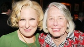 Bette Midler shares in the excitement of evening with gossip guru Liz Smith.