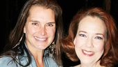 Brooke Shields says hello to Harriet Harris, Cinderellas hard-hearted Madame.