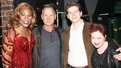 Sting and Cyndi Lauper get close with Kinky Boots stars Billy Porter and Stark Sands.