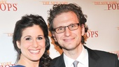 Broadway couple Stephanie J. Block and Sebastian Arcelus give us a smile.