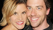 Broadway pals Jenn Colella and Christian Borle cheer on the cast of The Memory Show.