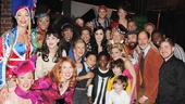 On May 1, the cast of the Tony-nominated musical Kinky Boots welcomed Grammy nominee Katy Perry to the Al Hirschfeld Theatre.