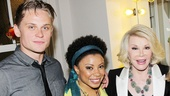 Newly minted Tony nominees Billy Magnussen and Shalita Grant are thrilled to say hello to Joan Rivers.