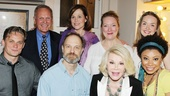 Here's a group shot we don't expect to see again! Billy Magnussen, Tab Hunter, David Hyde Pierce, Sigourney Weaver, Kristine Nielsen, Joan Rivers, Liesel Ann Yeager and Shalita Grant say farewell from the Golden Theatre.