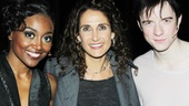 After witnessing the onstage magic, CSI: NY alum Melina Kanakaredes heads backstage to meet stars Patina Miller and Matthew James Thomas.