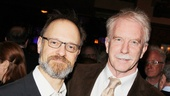 David Hyde Pierce congratulates Tony winner and 14-time (!) Tony nominee John Lee Beatty for his special citation from the Drama Critics Circle.