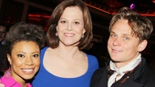 Vanya stars Shalita Grant, Sigourney Weaver and Billy Magnussen are happy to salute playwright Christopher Durang.