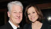 Flea Theatre founder Jim Simpson enjoys the festivities with his wife, Vanya leading lady Sigourney Weaver.