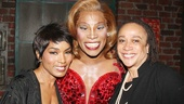 Kinky Boots' award-winning star Billy Porter couldn't be happier than to have his dear friends Angela Bassett and S. Epatha Merkerson at the theater.