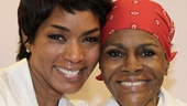 After the show, Academy Award nominee Angela Bassett congratulates Tony nominee Cicely Tyson on a powerful performance.