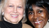 Fresh from her solo engagement at 54 Below, Tony winner Barbara Cook stops by to cheer on leading lady Cicely Tyson.