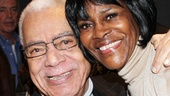 Tony-nominated stage and screen star Earle Hyman pulls Cicely Tyson in for a celebratory hug.