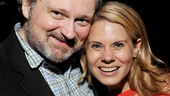 Aww! Broadway power couple John Ellison Conlee and Celia Keenan-Bolger (who will star in The Glass Menagerie this fall) take an adorable snapshot.