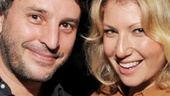 Murder Ballad director Trip Cullman parties with Ari Graynor, who starred in his off-Broadway production of Dog Sees God in 2005.