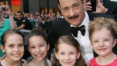 Lucky Guy nominee Tom Hanks was more than happy to grab a photo with Matilda leading ladies (Oona Laurence, Bailey Ryon, Sophia Gennusa and Milly Shapiro).
