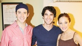 Broadway vet Darren Criss congratulates Cinderella stars Santino Fontana and Laura Osnes.