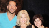 Zachary Levi joins Megan Hilty and his lovely co-star Krysta Rodriguez for a post-show snapshot.