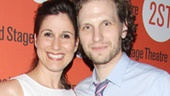 Tony nominee Stephanie J. Block and her husband, House of Cards player Sebastian Arcelus, have a date night at Second Stage.