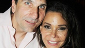 Daphne Rubin-Vega comes in close for a photo with her husband, Tommy Costanzo.