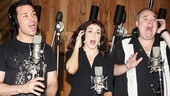 Kristoffer Cusick, Kate Loprest and Blake Hammond sing out indeed in the studio!