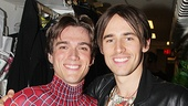 Original Spider-Man star Reeve Carney congratulates Justin Matthew Sargent on officially becoming Broadway's favorite superhero.