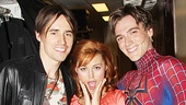 Two Spideys for the price of one! Rebecca Faulkenberry snaps a fun shot with Reeve Carney and Justin Matthew Sargent.