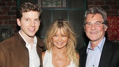 Kinky Boots leading man Stark Sands greets celebrity guests Goldie Hawn and Kurt Russell.