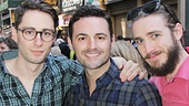 The Fantasticks star Daniel Rowan, Evita alum Max von Essen and Soul Doctor's JC Schuster unite to show off some Broadway memorabilia.