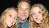 Norbert Leo Butz is overjoyed his daughters Clara and Maggie came to celebrate with him.