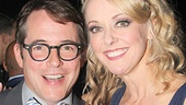 Matthew Broderick greets his former Producers co-star Angie Schworer, who is now appearing in Big Fish!