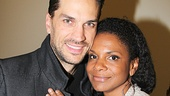 Aww! Adorable Broadway power couple Will Swenson and Audra McDonald get cozy backstage at Little Miss Sunshine.