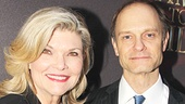 Curtains alums Debra Monk and David Hyde Pierce catch up on the red carpet.