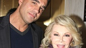 Boardwalk Empire star Bobby Cannavale and fashionista and funny lady Joan Rivers take a snapshot on the red carpet.